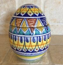 DERUTA Italy multi color  majolica ceramic hand painted egg new