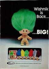 1977 ADVERT Uneeda Doll Wishnik Good Luck Charm Big Hair Dolls