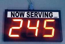"Take a Number System /Token Number Display/ Up Down counter - 4"" high LED digits"