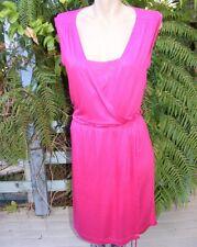 PORTMANS Hot Pink DRESS Lace Bodice RRP$89.95 WORK-PARTY DRESS SIZE M 14-16 New