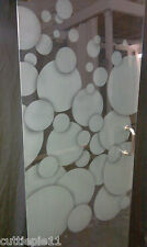 "Frameless Shower Door Sand Etched With Bubbles Dsg.24""-28"" 3/8 GLASS,/HRD COMBO"