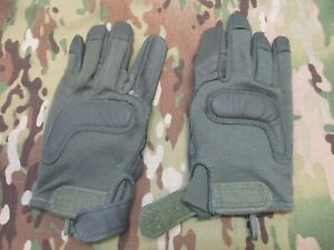 TYPE II ARMY COMBAT GLOVES MEDIUM SAGE GREEN GOAT SKIN LEATHER FLAME RESISTANT