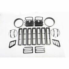 Jeep Wrangler Tj 97-06 Euro Guard Light Kit Black 15 Pc  X 12495.03