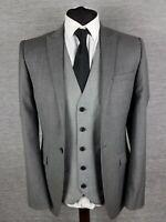 Lambretta Wool Mens Blazer Jacket Size 36L Long Grey Charcoal