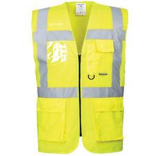 Portwest Berlin Executive ID Vest Hi Vis Visibility Safety Jacket Zip & Pockets
