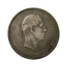 elf Crete under Greece 5 Drachmai 1901 (a)  Silver