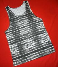 """ALL SAINTS GRAPHIC T-SHIRT TOP """"FOLDS VEST"""" GREY WHITE- S SMALL - RARE*"""