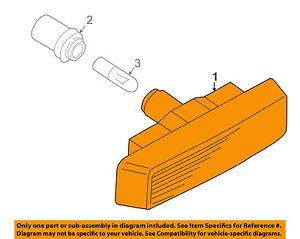 BMW OEM 97-03 540i Side Marker Signal Lamps-Front-Marker Lamp 63142496299