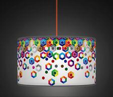 20cm Multi Hex Geometric Handmade Giclee Style lampshade pendant light 511
