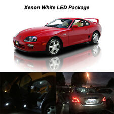 9 x White LED Interior Bulbs + Reverse + Tag Lights For 1997 1998 Toyota Supra