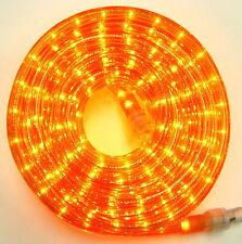 "Flexilight® Orange Rope Light 300Ft 110V 120V 2-Wire 1/2"" Incandescent Bulbs"