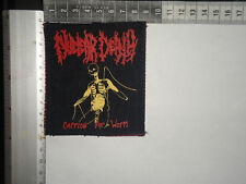 NUCLEAR DEATH Carrion For Whom SILK SCREEN PRINTED PATCH