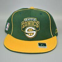 Seattle Sonics Supersonics Reebok NBA Men's Fitted Cap Hat - Size: 7 3/8
