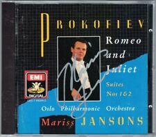 Mariss JANSONS Signiert PROKOFIEV Romeo and Juliet Suite No.1 2 Oslo Phil EMI CD