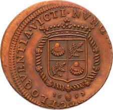O4012 RARE Décentré ERREUR Jeton Louis XIV Abot Boucher 1692 SPL ->F offre
