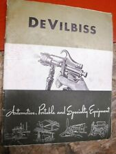 1947 DEVILBISS AUTOMOTIVE PORTABLE AND SPECIALITY EQUIPMENT CATALOG DI-B
