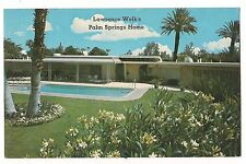 LAWRENCE WELK'S PALM SPRINGS Pool HOME House  CALIFORNIA Postcard