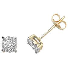 Orecchini con diamanti tondi in oro giallo I1