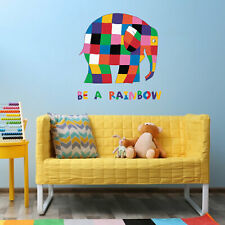 Official Elmer be a rainbow wall sticker | Official Elmer the elephant decor