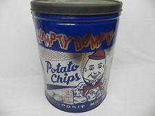 Vintage 2 lb Humpty Dumpty Potato Chip Tin Can Rare Size