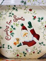 25th Anniversary Pfaltzgraff Winterberry Cookies For Santa Plate And Mug EUC
