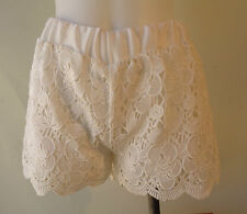 Whimsical lace white NEW shorts lined NWT size M/L 10