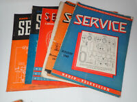 Set of 5 1940s Service Technical Journal of Television Radio Trade Repair Shops