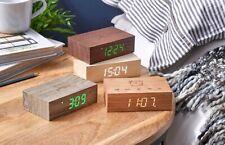 "Gingko Flip Click Clock 4.25'' x 2.75'' x 1.42"" Time/Date/Temp Alarm Clock"
