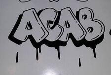 ACAB Graffiti drip Hooligan Biker vinyl decal sticker  A.C.A.B. 1 3 1 2