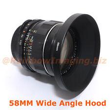 "58mm Metal Screw-in Hood for 28mm 35mm Wide Angle Lens ""US Seller"""
