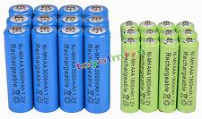 12 AA Azul 3000mAh + 12 AAA1800mAh NiMH batería recargable RC Reloj MP3
