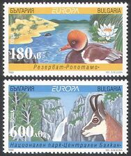 Bulgaria 1999 Europa/Parks/Waterfall/Duck/Deer/Nature/Environment 2v set n33877