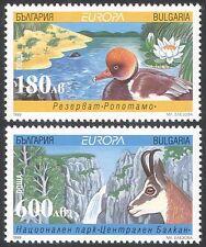 Bulgaria 1999 Europa/Parks/Waterfall/Duck/Deer/Nature/Environment 2v set n33877