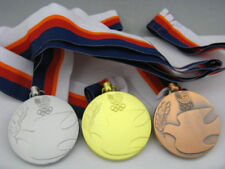 1988 Seoul South Korea Olympic Gold Silver Bronze Medals & Ribbons Set 1:1