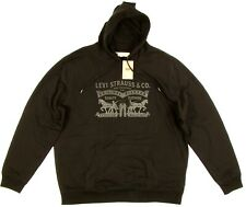 Levis Mens Hoodie Fleece Logo Sweatshirt BLACK SIZE XX-LARGE Pullover NWT