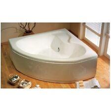Vasca da bagno termoformata ad angolo 140x140 cm con telaio e pannello
