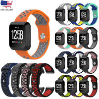 Breathable Silicone Replacement Wrist Band Watch Strap For Fitbit Versa Bracelet