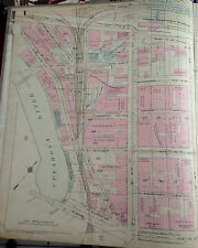 1921 G.M. Hopkins Cleveland, Ohio Union Passenger Station Copy Plat Atlas Map