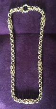 "9ct Gold Statement Fancy Belcher Chain   Length 16""   25.0gms     Second Hand"