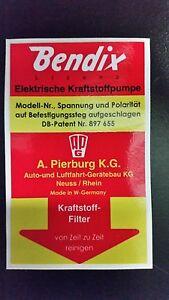 Bendix fuel pump sticker High Quality