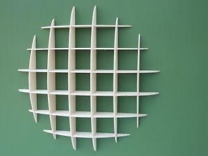 CD rack storage unit retro style shelves media holder shelf wall mounted 5x5