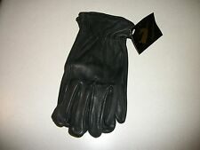 NO1 GRADE A MENS BLACK deer skin leather gloves motorcycle bike horse ride work