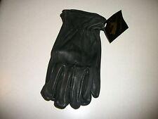 NO1 GRADE A MENS BLACK deer skin leather gloves motorcycle bike horse ride work