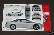1996-1999 PONTIAC GRAND PRIX GTP Car SPEC SHEET BOOKLET PHOTO BROCHURE