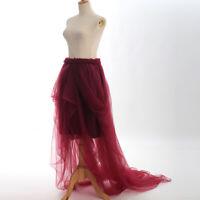 Vintage Party Wedding Costume Chiffon Underskirt Crinoline Petticoat 10 Patterns