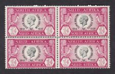 South Africa 1935 KGV Jubilee 1d SG66 block 4 UM MNH ** never hinged