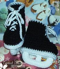 Boutique Kneat Heaven Crochet Hockey Skates Baby Booties