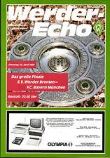 BL 85/86 SV Werder Bremen - FC Bayern München, 22.04.1986, Das große Finale