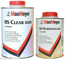 1,5 Liter Klarlack SET HS 0200 Klarlack mit 0,5 Liter 6000 Härter kurz MaxMeyer