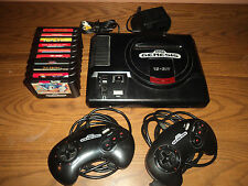 Sega Genesis 16 Bit Console with Sonic and Kids Game Lot Bundled & Ready to Play